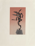 Fine Art - Work on Paper:Print, Barry Flanagan (1941-2009). Bunny, n.d.. Etching andlithograph in colors on paper. 13-1/2 x 7-3/4 i...