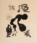 Fine Art - Work on Paper:Print, Joan Miró (1893-1983). Untitled, 1948. Lithograph on paper.14-1/4 x 10-1/2 inches (36.2 x 26.7 cm) (image). 22 x 17-7/8...