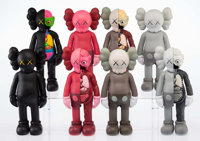 KAWS (b. 1974) Companion (Open Edition) (set of eight), 2016 Painted cast vinyl 11 x 4-1/2 inches