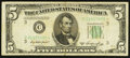 Error Notes:Skewed Reverse Printing, Back Printing Awry Down and to the Left Fr. 1962-C* $5 1950AFederal Reserve Star Note. Fine.. ...