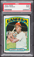 Baseball Cards:Singles (1970-Now), 1972 Topps Lenny Randle #737 PSA Mint 9 - Only One Higher. ...