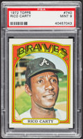 Baseball Cards:Singles (1970-Now), 1972 Topps Rico Carty #740 PSA Mint 9 - Only Two Higher. ...
