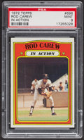Baseball Cards:Singles (1970-Now), 1972 Topps Rod Carew In Action #696 PSA Mint 9 - Only One Higher. ...