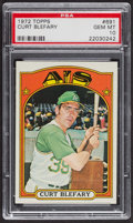 Baseball Cards:Singles (1970-Now), 1972 Topps Curt Blefary #691 PSA Gem MT 10 - Pop Three. ...