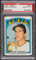 Baseball Cards:Singles (1970-Now), 1972 Topps Dave Johnson #680 PSA Gem MT 10. ...