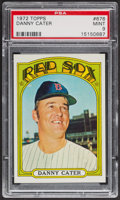 Baseball Cards:Singles (1970-Now), 1972 Topps Danny Cater #676 PSA Mint 9 - None Higher. ...