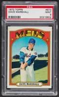 Baseball Cards:Singles (1970-Now), 1972 Topps Dave Marshall #673 PSA Mint 9 - Only One Higher. ...