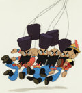 Animation Art:Production Cel, Pinocchio Russian Dancers and Pinocchio Production CelCourvoisier Setup (Walt Disney, 1940). ...
