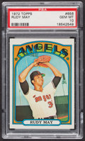 Baseball Cards:Singles (1970-Now), 1972 Topps Rudy May #656 PSA Gem MT 10 - Pop Four. ...