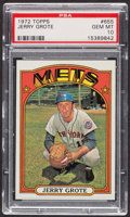 Baseball Cards:Singles (1970-Now), 1972 Topps Jerry Grote #655 PSA Gem MT 10 - Pop Two. ...