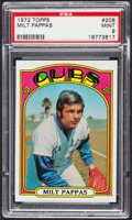 Baseball Cards:Singles (1970-Now), 1972 Topps Milt Pappas #208 PSA Mint 9 - Only Three Higher. ...