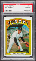 Baseball Cards:Singles (1970-Now), 1972 Topps Joe Niekro #216 PSA Gem MT 10 - Pop Five. ...