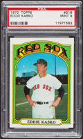 Baseball Cards:Singles (1970-Now), 1972 Topps Eddie Kasko #218 PSA Mint 9 - Only Two Higher. ...
