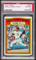 Baseball Cards:Singles (1970-Now), 1972 Topps World Series Game 1 #223 PSA Gem MT 10. ...