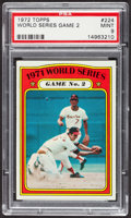Baseball Cards:Singles (1970-Now), 1972 Topps World Series Game 2 #224 PSA Mint 9 - Only One Higher....
