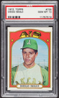 Baseball Cards:Singles (1970-Now), 1972 Topps Diego Segui #735 PSA Gem MT 10. ...