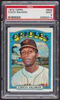 Baseball Cards:Singles (1970-Now), 1972 Topps Chico Salmon #646 PSA Mint 9 - Only Two Higher. ...