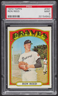 Baseball Cards:Singles (1970-Now), 1972 Topps Ron Reed #787 PSA Mint 9 - Only Two Higher. ...