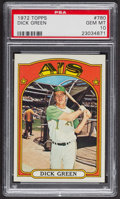 Baseball Cards:Singles (1970-Now), 1972 Topps Dick Green #780 PSA Gem MT 10. ...