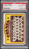 Baseball Cards:Singles (1970-Now), 1972 Topps Giants Team #771 PSA Gem MT 10. ...