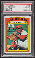 Baseball Cards:Singles (1970-Now), 1972 Topps Pat Corrales In Action #706 PSA Gem MT 10 - Pop Four....