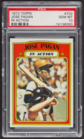Baseball Cards:Singles (1970-Now), 1972 Topps Jose Pagan In Action #702 PSA Gem MT 10 - Pop Three. ...