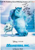 Animation Art:Poster, Monsters, Inc. Theatrical Poster Signed with Sketch by PeteDocter (Walt Disney/Buena Vista, 2001). ... (Total: 2 Items)