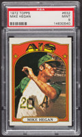 Baseball Cards:Singles (1970-Now), 1972 Topps Mike Hegan #632 PSA Mint 9 - Only Three Higher. ...