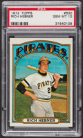 Baseball Cards:Singles (1970-Now), 1972 Topps Rich Hebner #630 PSA Gem MT 10. ...