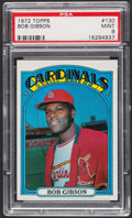 Baseball Cards:Singles (1970-Now), 1972 Topps Bob Gibson #130 PSA Mint 9 - None Higher. ...