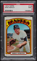 Baseball Cards:Singles (1970-Now), 1972 Topps Mike Kekich #138 PSA Mint 9 - Only Four Higher. ...