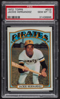Baseball Cards:Singles (1970-Now), 1972 Topps Jackie Hernandez #502 PSA Gem MT 10. ...