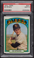 Baseball Cards:Singles (1970-Now), 1972 Topps Ed Spiezio #504 PSA Mint 9 - Only Two Higher. ...