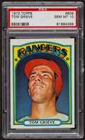 Baseball Cards:Singles (1970-Now), 1972 Topps Tom Grieve #609 PSA Gem MT 10 - Pop Three. ...
