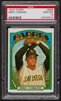 Baseball Cards:Singles (1970-Now), 1972 Topps Mike Corkins #608 PSA Gem MT 10. ...