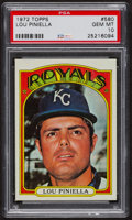 Baseball Cards:Singles (1970-Now), 1972 Topps Lou Piniella #580 PSA Gem MT 10. ...