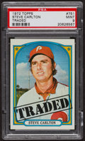 Baseball Cards:Singles (1970-Now), 1972 Topps Steve Carlton Traded #751 PSA Mint 9 - Only Four Higher. ...