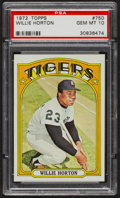 Baseball Cards:Singles (1970-Now), 1972 Topps Willie Horton #750 PSA Gem MT 10. ...