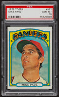 Baseball Cards:Singles (1970-Now), 1972 Topps Mike Paul #577 PSA Gem MT 10. ...