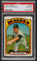 Baseball Cards:Singles (1970-Now), 1972 Topps Fritz Peterson #573 PSA Gem MT 10. ...