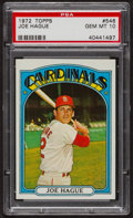 Baseball Cards:Singles (1970-Now), 1972 Topps Joe Hague #546 PSA Gem MT 10 - Pop Five. ...