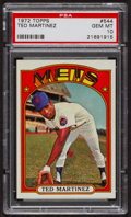 Baseball Cards:Singles (1970-Now), 1972 Topps Ted Martinez #544 PSA Gem MT 10 - Pop Four. ...