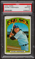 Baseball Cards:Singles (1970-Now), 1972 Topps Duane Josephson #543 PSA Gem MT 10 - Pop Four. ...