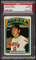 Baseball Cards:Singles (1970-Now), 1972 Topps Roger Repoz #541 PSA Gem MT 10 - Pop Three. ...