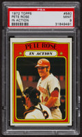 Baseball Cards:Singles (1970-Now), 1972 Topps Pete Rose In Action #560 PSA Mint 9 - Five Higher. ...