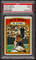 Baseball Cards:Singles (1970-Now), 1972 Topps Ollie Brown In Action #552 PSA Mint 9 - Only Three Higher. ...