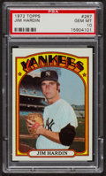 Baseball Cards:Singles (1970-Now), 1972 Topps Jim Hardin #287 PSA Gem MT 10. ...