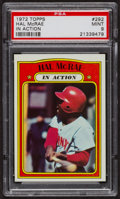 Baseball Cards:Singles (1970-Now), 1972 Topps Hal McRae In Action #292 PSA Mint 9 - Only One Higher....