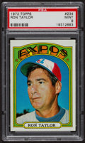 Baseball Cards:Singles (1970-Now), 1972 Topps Ron Taylor #234 PSA Mint 9 - Only Three Higher. ...
