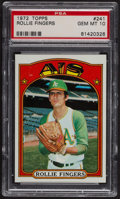 Baseball Cards:Singles (1970-Now), 1972 Topps Rollie Fingers #241 PSA Gem MT 10. ...